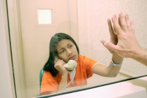 Visiting loved ones in a jail